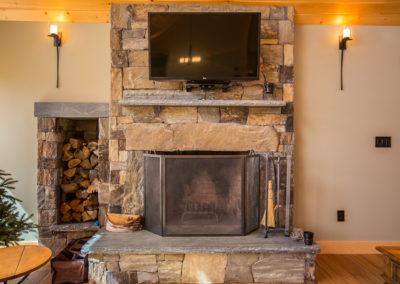 Harding fireplace detail