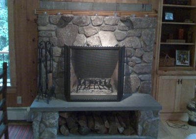 meade fireplace - no mantle